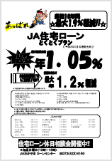 JA住宅ローン(固定金利)