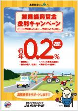 農業振興資金金利キャンペーン